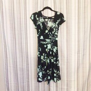 Ruby Rox Floral Tie Waist A Line Dress Sz XL